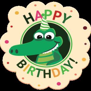 Happy Birthday   Geburtstag   Krokodil