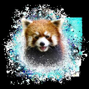 Roter panda ,Graffiti, Malerei,pandabär, bär, rot