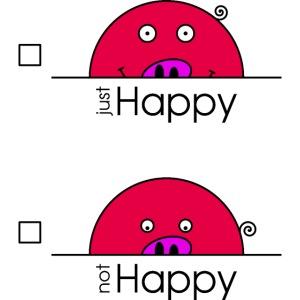 """Happy Rosanna - """"just / not Happy"""" - c"""