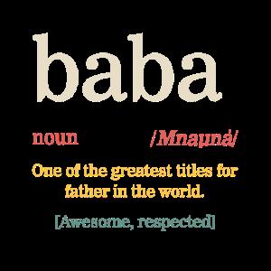 Herren Baba Shirt, Vatertagsgeschenk von Frau,