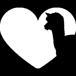 Alpaka Silhouette Liebe Herz für Alpaka-Liebhaber