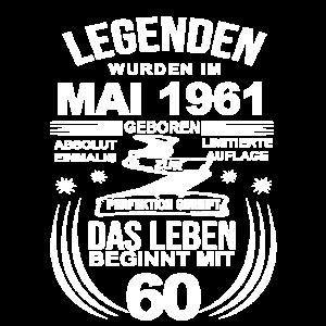 60 Geburtstag Herren Damen Mai 1961 60ter