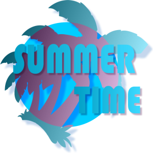 Summertime Urlaub Sonne Palmen Strand Design