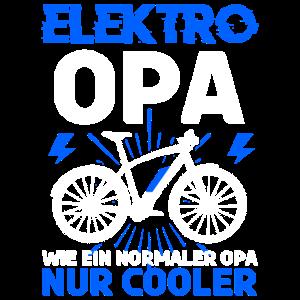 E-Bike Opa Rente Spruch Rentner E-Bike Mann