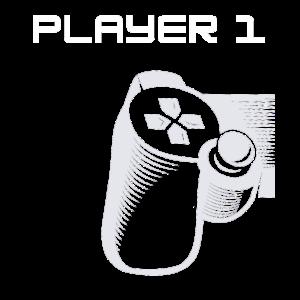 Herren Vater Sohn Shirt Partnerlook Gamer Player 1