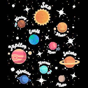 Kinder Sonnensystem Planeten Weltraum Wissen