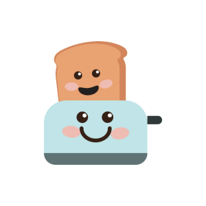 Toastbrot und Toaster Frühstückspaar Geschenkidee