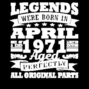 1971 Jahr Geburtstag April seit April 1971