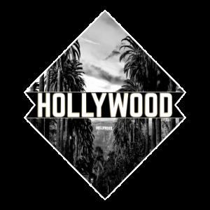 Hollywood Schwarz-Weiß Fotografie Palmen