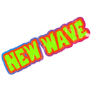 New Wave Text 80er - Used Style