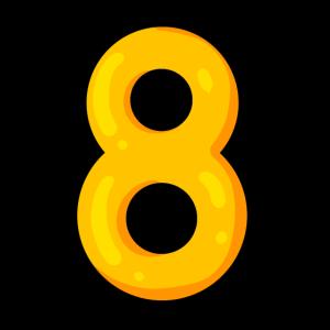 Acht - 8 - Zahl - Ziffer