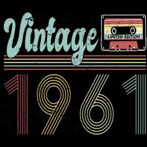 1961 Geburtstag Retro Vintage Geschenk