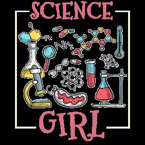 Science Girl Chemie Wissenschaft Chemiker Biologe