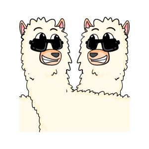 Lustige Alpakas
