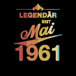 60. Geburtstag Legendär seit Mai 1961 Jahrgang 61