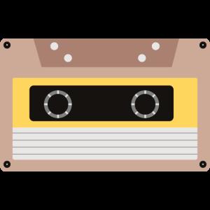 Cassette Tape - Vorgänger der CD. 80er Kult Objekt