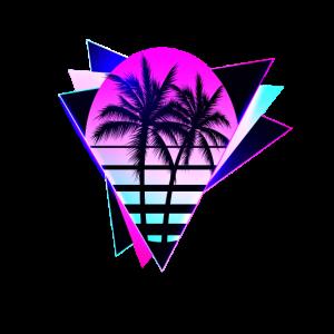 Aesthetic Vaporwave Vintage. retrowave-triangle