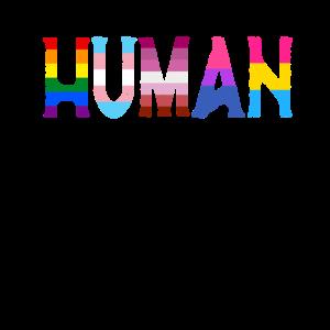Menschliche LGBTQ-Flagge - LGBTQ