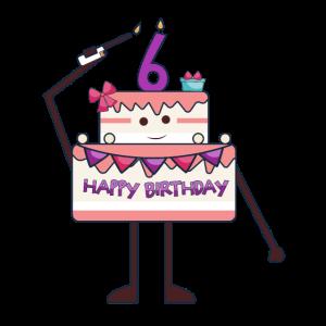 Ich bin 6 Geburtstagskuchen Sechster Geburtstag