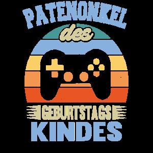 Patenonkel Geburtstag Kind Games Vintage Retro