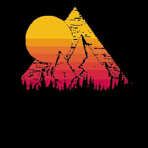 Retro Sonne Geometrische Berg Kunst im Freien Lieb