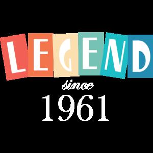 Legende seit 1961 Geburtstag retro