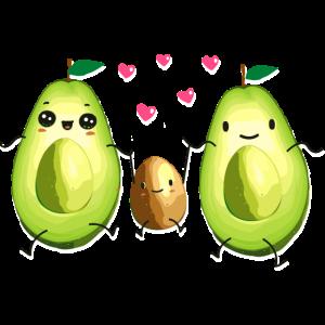 Avocado - Familie - Partnerlook - Schwangerschaft