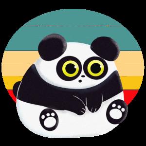 Knuffiger Panda Sonnenuntergang