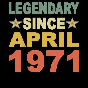 Legendär seit April 1971 Geburtstag Geschenk