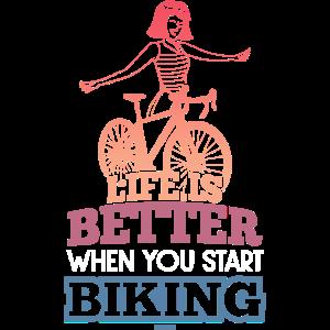 Fahrrad Mädchen Muttertag Radsport