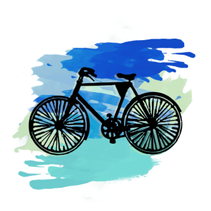 Fahrrad,bunt,malerei, illustration, wasserfarbe