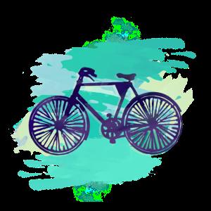 Fahrrad,malerei, illustration, wasserfarbe, mint