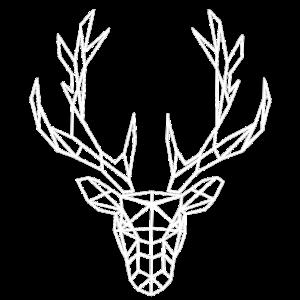 Kopf von Polygon-Hirsch