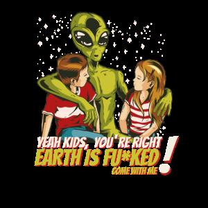 Alien Ja Kinder es stimmt, die Welt ist im am