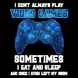 Ich spiele nicht immer Videospiele Manchmal esse i