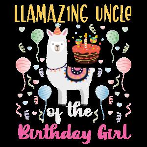 Llamazing Uncle of the Birthday Girl