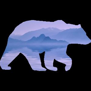 Bär Berg Wald Natur Grizzly Papa schwarzbär
