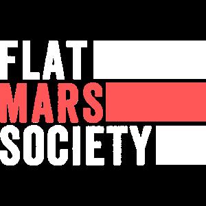 Flache Mars Society Shirt, lustige flache Mars Shirt, fl