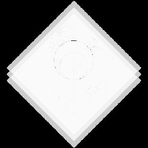 Raute weiß Kreisen geometrisches Design