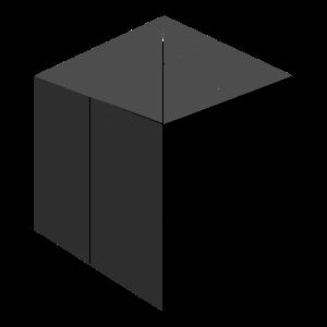 Quadrat Cube Volume schwarz Striche Design