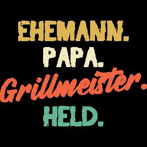 Ehemann Papa Grillmeister Held Vatertag Männertag