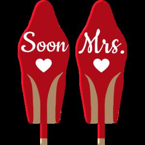 Soon Mrs ! High Heels personalisierbar