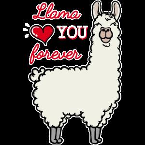 Lama Statement Herz Valentinstag