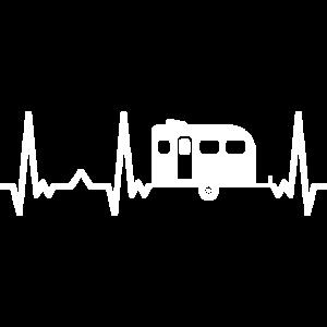 Camping Heartbeat Camper Outdoor Wohnwagen Puls