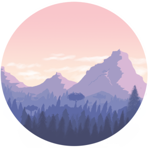 Berglandschaft in pink