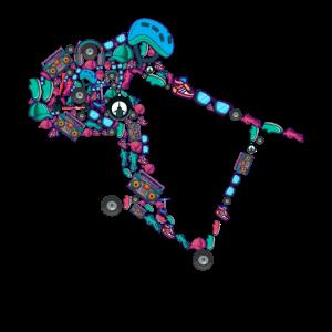 Scooter Stunt Roller E-Roller Jungen