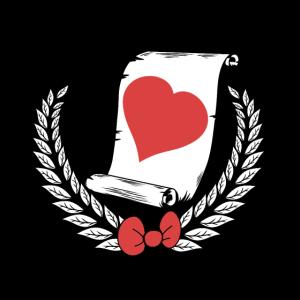 Herz Präsentieren Lorbeerkranz Geschenk Valentin