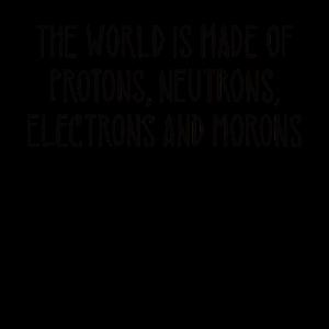 Die Welt Protonen Neutronen Elektronen Idioten