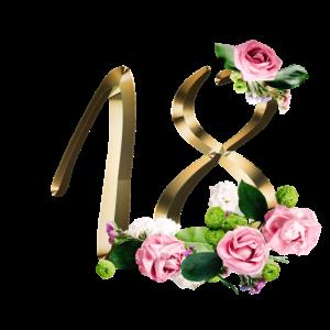 18 Jahre Gold Rosen 18. Geburtstag Geschenk