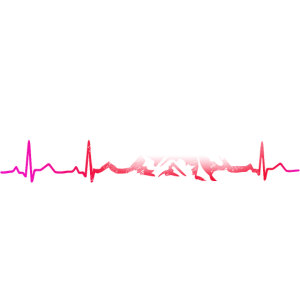 Herzschlag Berge Mountainbike Bergsteiger Wandern
